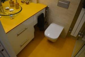 Encimera y suelo para baño en Madrid